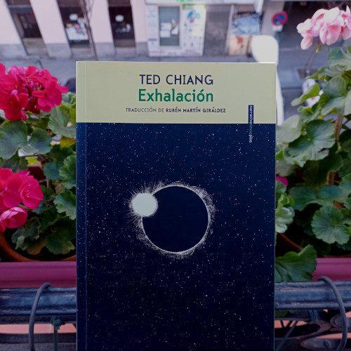 Portada de «Exhalación», de Ted Chiang. Ed. SextoPiso, 4ª ed. oct. 2020. Trad. Rubén Martín Giráldez